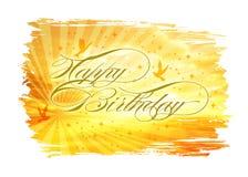Birthday42 feliz Foto de archivo libre de regalías