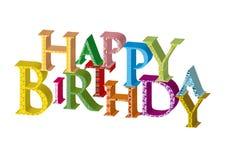 Birthday46 feliz ilustración del vector