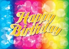 Birthday50 feliz stock de ilustración