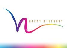 Birthday52 feliz Imágenes de archivo libres de regalías