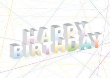 Birthday55 feliz Imagen de archivo libre de regalías