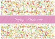 Birthday8 feliz Imagenes de archivo