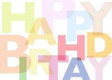 Birthday8 feliz Imagen de archivo libre de regalías