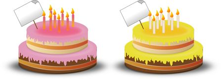 Birthdays cakes royalty free illustration