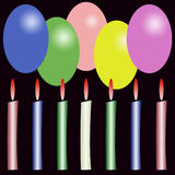 Birthdays postcard Royalty Free Stock Images