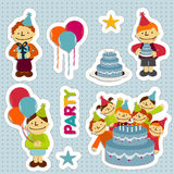 BirthdayStickers Illustrazione Vettoriale