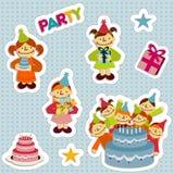 BirthdayStickersGirl Royalty Free Stock Photography
