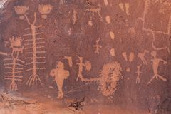 Birthing petroglyphs σκηνής στη Γιούτα Στοκ φωτογραφία με δικαίωμα ελεύθερης χρήσης