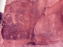 Muted Desert Birthing Sceene. The Birthing Scene Rock with faded film look muted colors stock photography