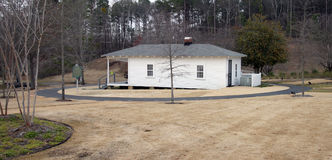 Birthplace of Elvis. Wide view of the birthplace of Elvis stock photography