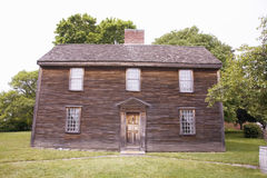 Birthplace of John Adams. The 2nd President and Revolutionary War hero.  Adams National Historical Park, Braintree, Quincy, MA, USA Royalty Free Stock Photo