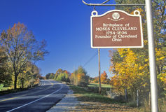 Birthplace of Moses Cleveland along scenic Route 109 north of Canterbury, Connecticut Stock Photography