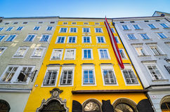 Birthplace of Mozart in Salzburg, Austria. Birthplace of Wolfgang Amadeus Mozart in Salzburg, Austria Stock Photography
