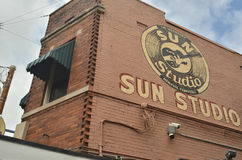 The Birthplace of Rock and Roll, the legendary Sun Studio. Historic Sun Studio aka Sun Records in Memphis, Tennessee is the first studio where Elvis Presley Stock Image