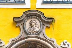 Birthplace of Wolfgang Amadeus Mozart in Salzburg, Austria. Birthplace of Wolfgang Amadeus Mozartcomposer; Mozarts Geburtshaus. Salzburg, Austria Royalty Free Stock Photography