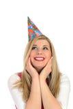 birthsday fira nätt kvinnligdeltagare Royaltyfria Foton