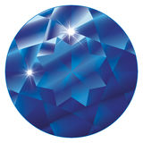 Birthstone-Safira de setembro Fotos de Stock Royalty Free