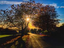 Birtley wioska w Northumberland, Anglia Obraz Stock