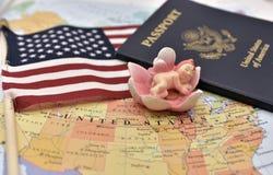 Birtright av USA-medborgarskap via födelse vid USA-konstitutionartikel 14 arkivfoton