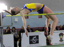 Biruk Tamara on high jump Royalty Free Stock Photos