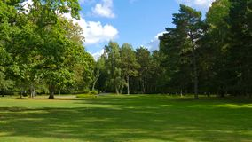 Biruta Park in Palanga. One of the oldest and most popular botan. Ical gardens in Europe and Lithuania has nautral coastal vegetation Stock Photos