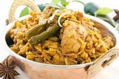 Biryani. Indian Biryani with chicken and chili stock photos