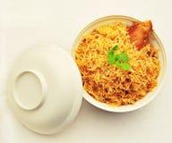 Biryani bowl. Freshly cooked Chicken biryani bowl stock photos