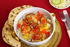 Biryani и Chapatis Стоковое Изображение