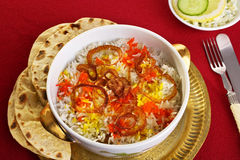 Biryani and Chapatis Royalty Free Stock Images