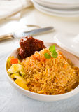 Biryani chicken rice cooked in arab style tajine with traditiona Stock Photos