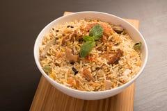 Biryani délicieux délicieux de poulet Photos libres de droits