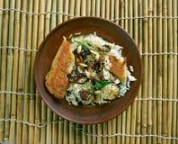 Biryani de poulet de Thalassery images libres de droits