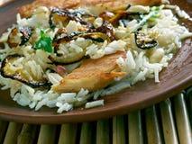 Biryani de poulet de Thalassery photo stock