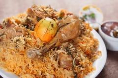 Biryani de poulet, Murgh Biryani Photos libres de droits