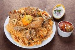 Biryani del pollo, Murgh Biryani fotografia stock
