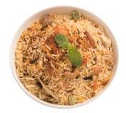Biryani delicioso del pollo imagen de archivo libre de regalías