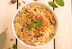 Biryani delicioso delicioso del pollo fotos de archivo libres de regalías
