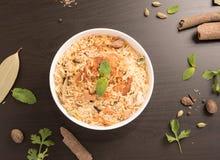 Biryani delicioso delicioso del pollo foto de archivo