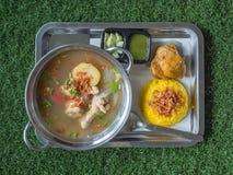 Biryani e canja de galinha tailandeses da galinha Imagem de Stock