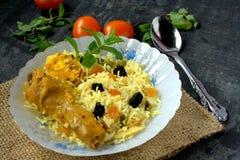 Biryani lub pilaf ryż Obrazy Royalty Free