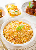 Biryani rice or briyani rice Stock Photos