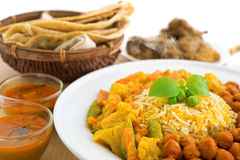 Biryani rice and chapati Stock Photos