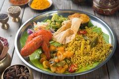 Biryani ryżowy przygotowywający jeść Zdjęcie Stock