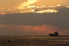 Birzebbuga, Malta 15 December 2015: Ship in the Morning. Royalty Free Stock Photography