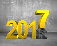 2016 bis 2017, guten Rutsch ins Neue Jahr-Konzept Lizenzfreie Stockfotos