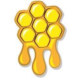 Bis honungskaka mycket av honung, vektorillustration Royaltyfria Bilder