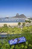 BIS-Schokolade, die Sugar Loaf Mountain Rio de Janeiro, Brasilien übersieht Lizenzfreie Stockfotografie