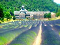 Bis Sommer Schiebe-Provence Frankreich senanque stockfotos