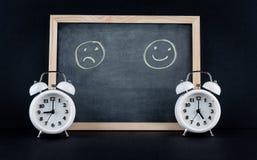 9 bis 5-trauriges Unternehmensarbeitsstunde-Konzept Stockfotos