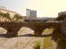 Bisagnostroom tijdens droogte in Genua stock foto